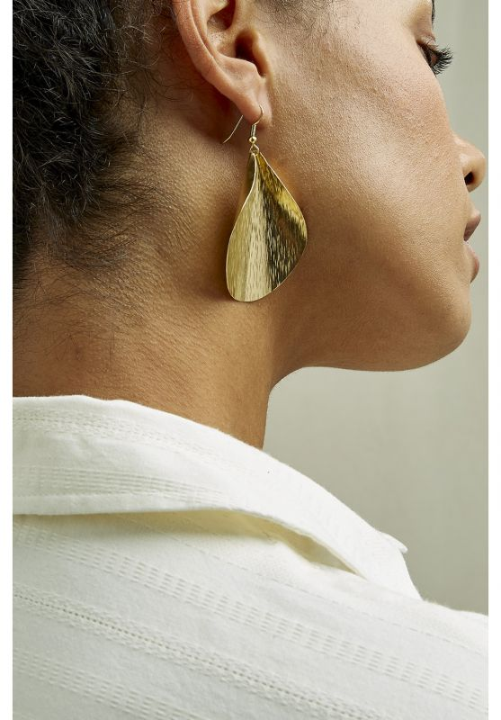 Curled Leaf Earrings