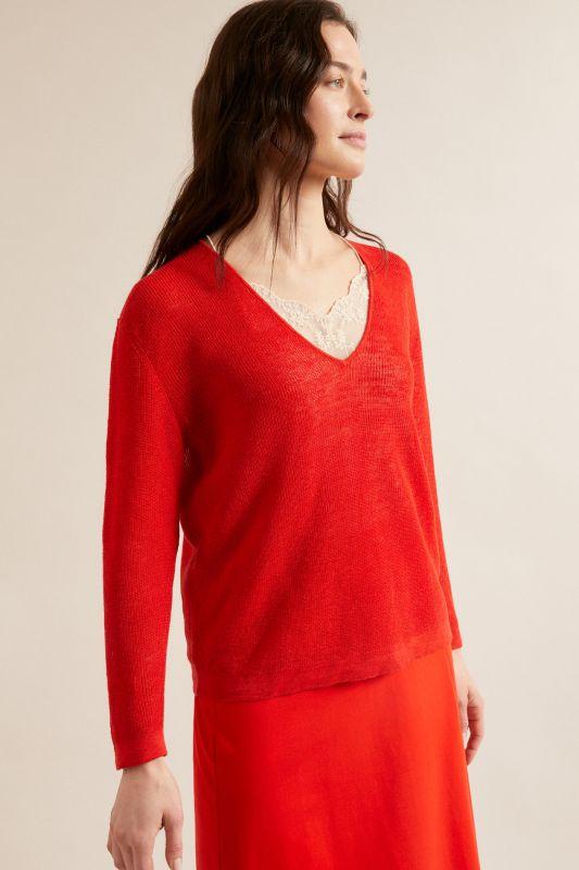 Pullover mit V-Auschnitt