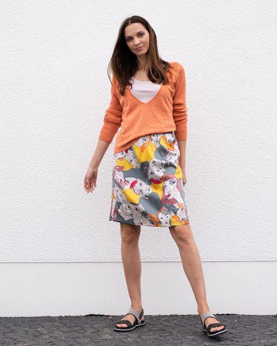 Silk Skirt print