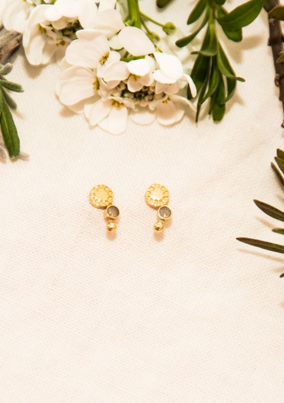 Earring gold18k plated