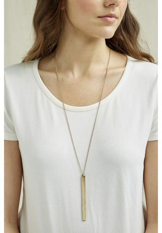 Bar Necklace Brass