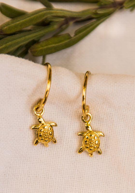 Earring turtle gold18k