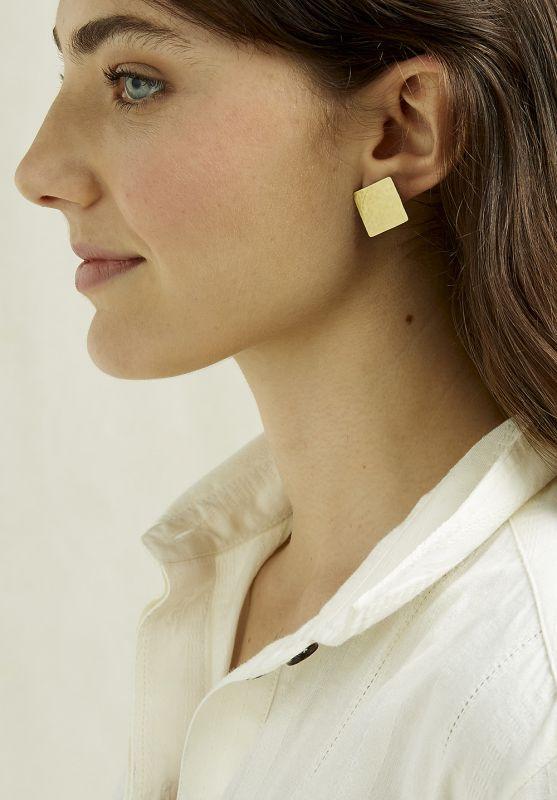 Square Stud Earrings